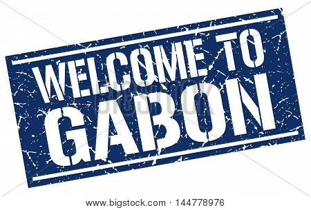 welcome to Gabon. stamp. grunge square sign