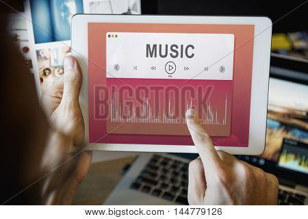 Music Sound Player Entertainment Multimedia Graphic Concept