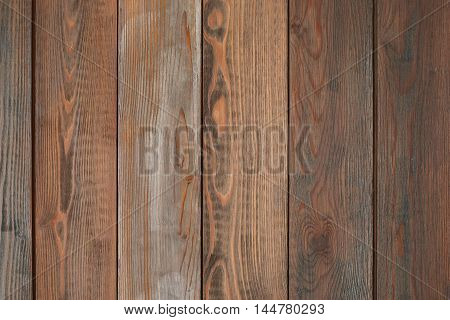 Old rustic wooden background. Rough vintage planked board of wood. Rural table. Grunge style