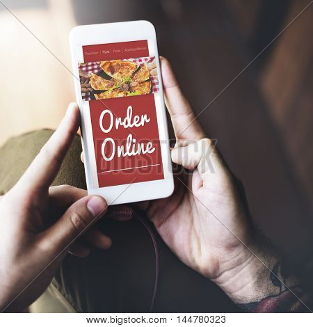 Online Pizza Delivery Service Concept