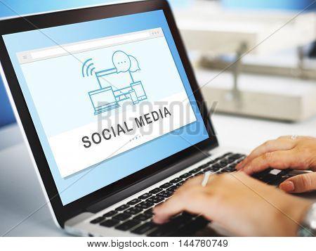 Social Media Devices Internet Concept