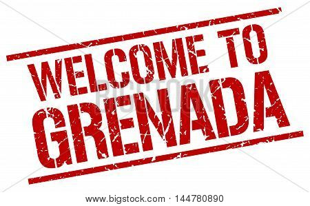 welcome to Grenada. stamp. grunge square sign