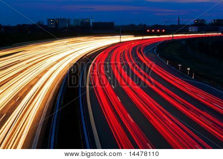 Light line of Highway