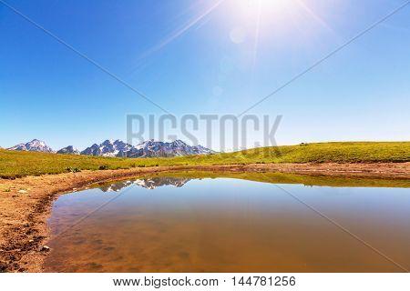 Mountains lake in Georgia