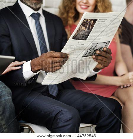 Colleagues Group Sitting Friends Diverse Team Concept