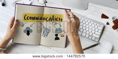 Social Media Connection Communication Friends Concept