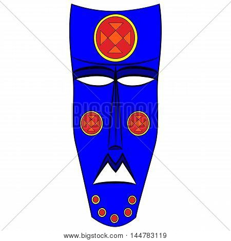 Ethnic tribal mask. cartoon flat illustration isolated on white background