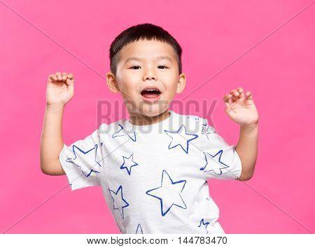 Little kid dancing