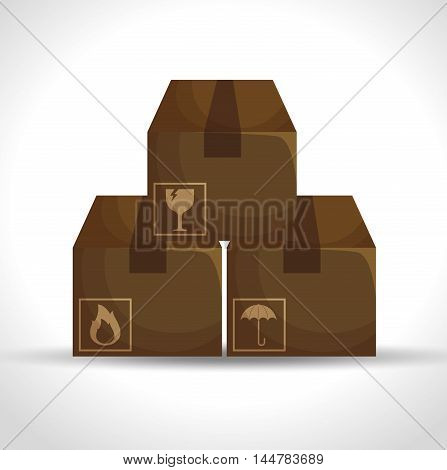 boxes carton packing delivery service vector illustration design