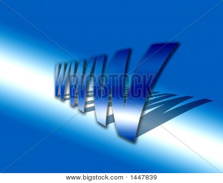 Www  World Wide Web In Blue With Shadow