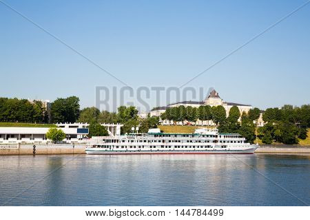 Riverport city of Yaroslavl on the Volga River