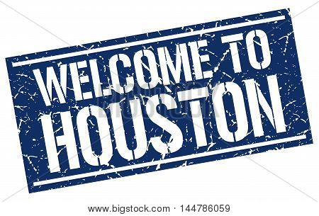 welcome to Houston. stamp. grunge square sign