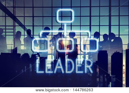 Leader Organization Chart Business Company Concept