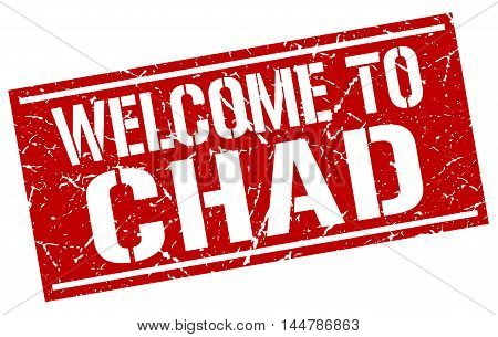 welcome to Chad. stamp. grunge square sign