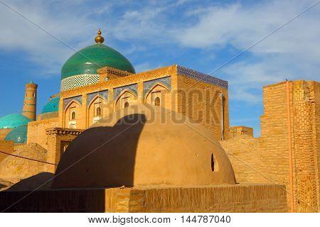 Ichan-Kala, Khiva, Uzbekistan. Old city.Architectural monuments of ancient Khwarezm of Central Asia.