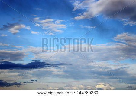 blue sky with raincloud. raincloud motion beautiful in nature