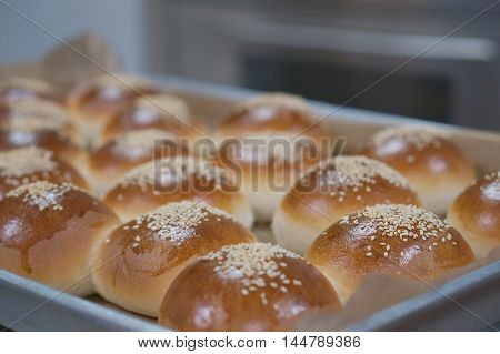 Sandwich Bun With Sesame Seeds
