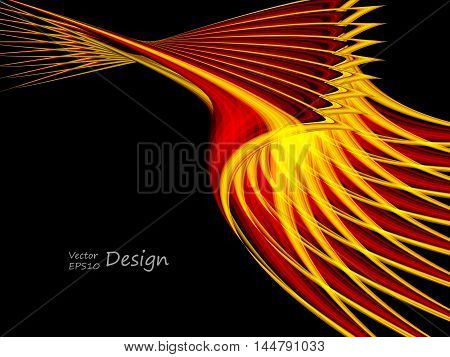 abstract bright vector background with copy space. Glowing wavy elements for broshures, annual reports. Eps10