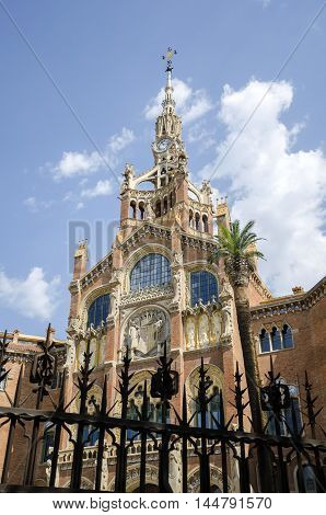 The former Hospital de la Santa Creu i Sant Pau, Barcelona, Catalonia, Spain. Unesco site