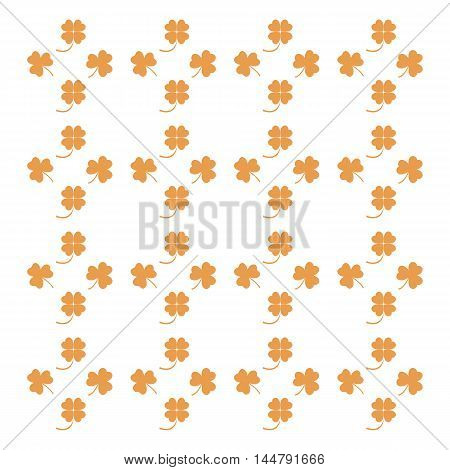 Nice picture from various pieces of clover located around, vector
