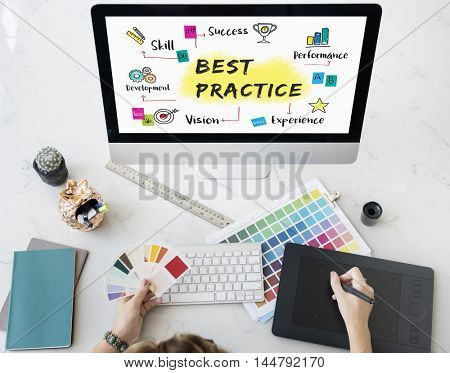 Plan Business Strategy Steps Work Concept