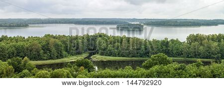 Lake In Forest Panorama