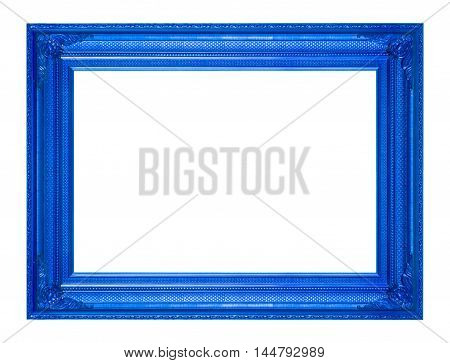 frame picture frame wooden Carved pattern isolated on a white background.