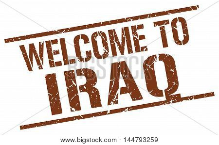 welcome to Iraq. stamp. grunge square sign