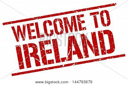 welcome to Ireland. stamp. grunge square sign