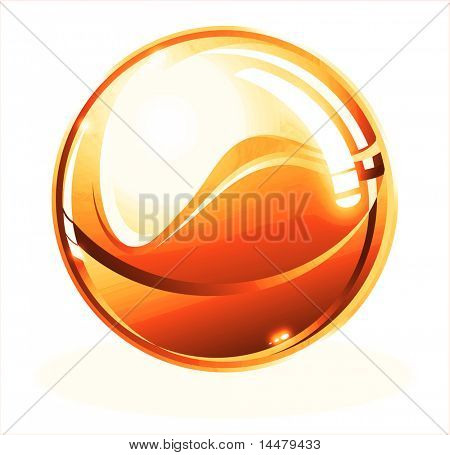 Orange Beautiful Sphere