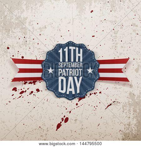 Patriot Day 11th September Tag. Vector Illustration