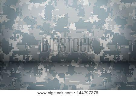 Digital Camouflage background. Mockup for presentation items. Vector Illustration.