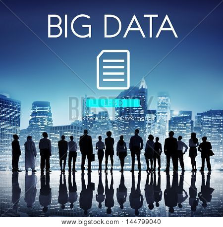 Big Data Information Technology Networking Concept