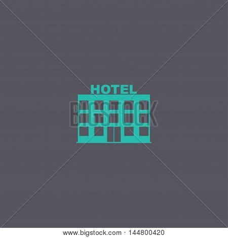 Hotel Icon. Vector Concept Illustration For Design