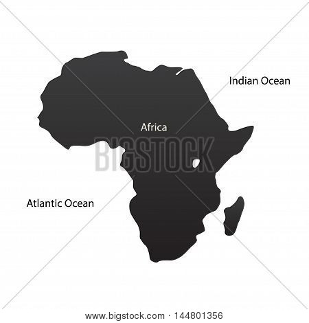A large map of the African continent