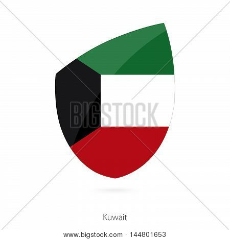 Flag of Kuwait in the style of Rugby icon. Vector Illustration.