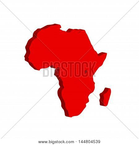 The African continent. Bulk illustration on a white background