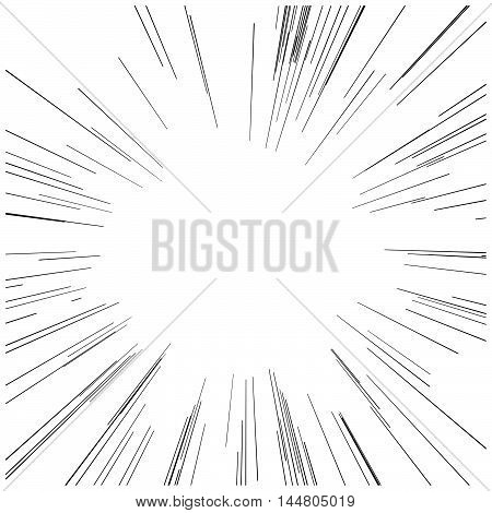 illustration vector abstract speed motion black starburst straight lines