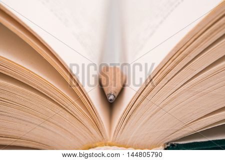 open book school textbook on a white background
