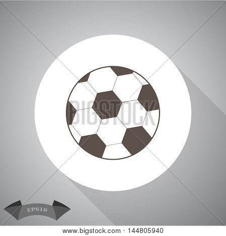 Soccer ball sport vector icon for web and mobile