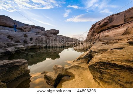Canyon of 3000-Boke Thailand at day light