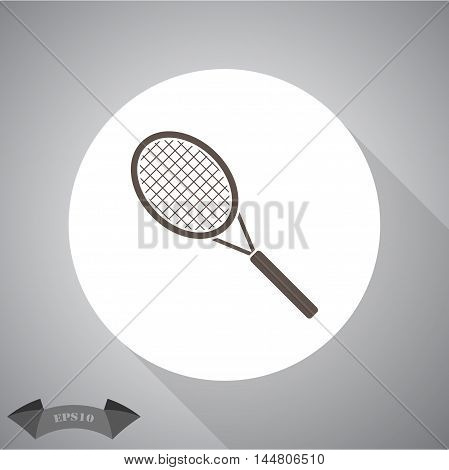 Tennis racket sport vector icon for web and mobile