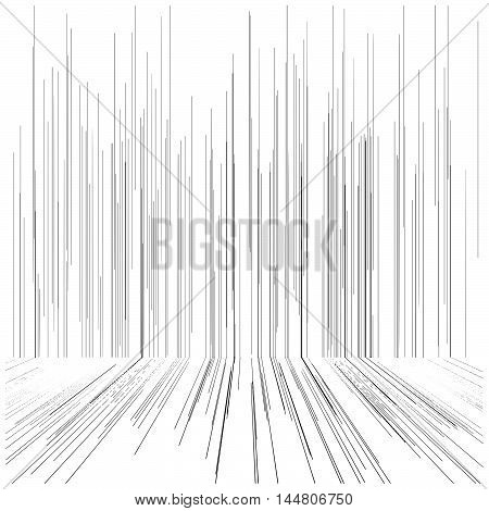 illustration vector perspective speed motion lines technology concept