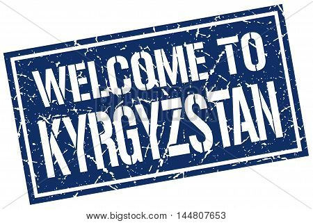 welcome to Kyrgyzstan. stamp. grunge square sign