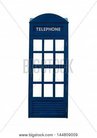 telephone booth isolated on white background .