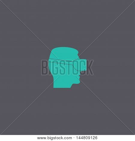 Virtual Reality Headset Icon, Flat Design,