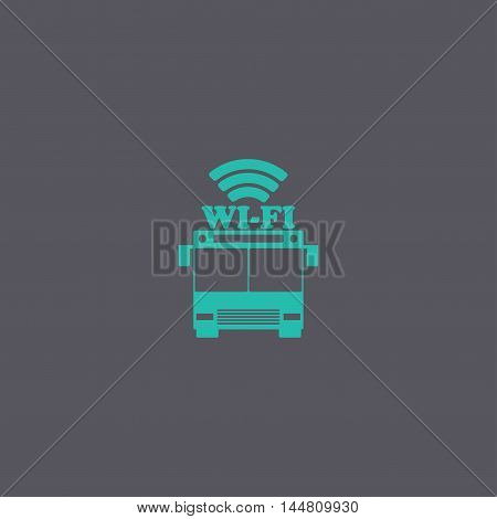 Bus Wi-fi Vector Icon