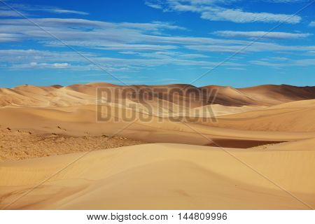 Dunes of the Gobi desert