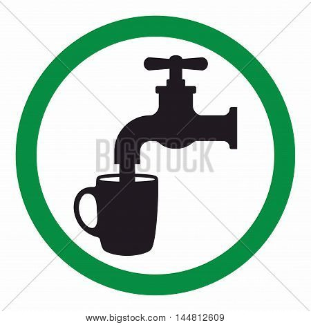 Drinking water sign, water is safe to drink