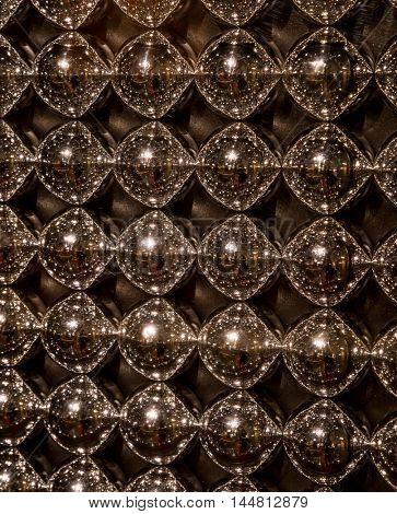 Abstract texture of metall balls